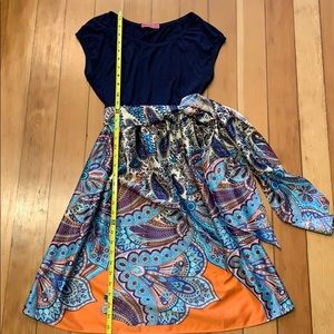 Maternal America Dresses - Maternity dress w/scoop neck and empire waist